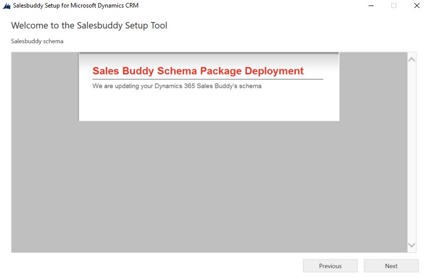 Package Deployer deployment screen